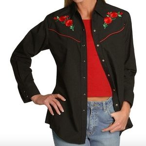 Country Charmers Embroidered Vintage Western Top